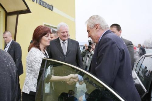 Návštěva prezidenta Miloše Zemana